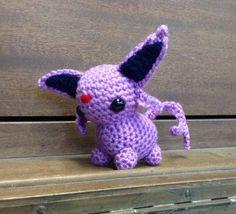 Espeon Pokemon amigurumi plush toy Eevee от CraftedCuteness, $29.50