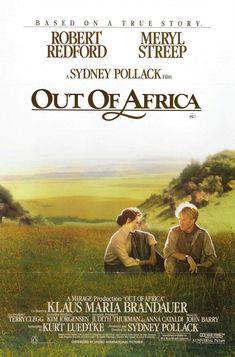 Out of Africa. Robert Redford has always worn the romantic-lead hat well, especially in this flick opposite our girl, Meryl Streep. Set against the backdrop of wild Africa, we watch as Karen Blixen falls hopelessly in love with hunter Denys Finch-Hatton. Old Movies, Vintage Movies, Great Movies, Irish Movies, Karen Blixen, Robert Redford, Meryl Streep, Love Movie, Movie Tv