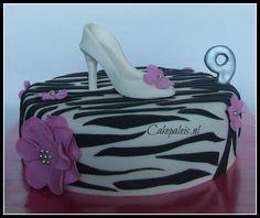Zebra shoe cake