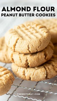 These vegan almond flour peanut butter cookies with maple syrup are the most delicious snack! Not too sweet, these 3 ingredient almond flour peanut butter cookies are an easy treat! Easy Homemade Cookie Recipes, Healthy Cookie Recipes, Nut Recipes, Vegan Snacks, Vegan Desserts, Dessert Recipes, Scone Recipes, Flour Recipes, Easy Desserts