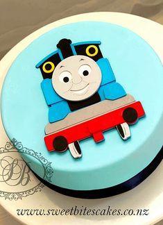 Side View Of Thomas Cake In 2019 Kid Stuff Thomas Cakes Cake