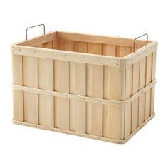 IKEA - BRANKIS, Korb, 36x27x23 cm, , Die Griffe erleichtern das Herausziehen und Anheben des Korbs.