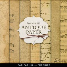 Far Far Hill - Free database of digital illustrations and papers: New Freebies Kit of Vintage Papers
