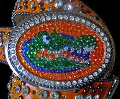 Florida Gators Belt   Swarovski Crystal Gator by BuckleXpressions, $150.00