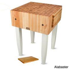 John Boos PCA1 Wood Butcher Block Table (18x18) with Bonus Cutting Board | Overstock.com Shopping - Big Discounts on Butcher Blocks