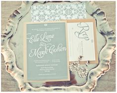 grayed jade colored wedding invitations