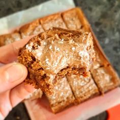 The love child of brownies and classic choc coconut slice. Milk Recipes, Sweet Recipes, Baking Recipes, Cake Recipes, Dessert Recipes, Ww Recipes, Healthy Recipes, 100 Cookies Recipe, Cake Cookies