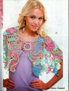 Revista Moa. Chal multicolor