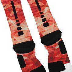 Red Prism Custom Nike Elite Socks