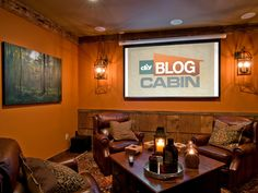 small man cave ideas   Man Cave Photos: DIY Blog Cabin 2009 : Blog Cabin : DIY Network