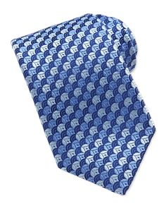 Almost looks like fish scales.  Charvet Overlapping Circles Tie, Blue - Neiman Marcus.