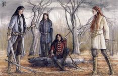 Fingon, Maglor, Caranthir and Maedhros