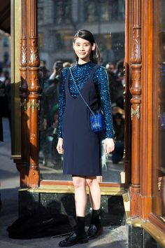The Dior-Inspired Way to Wear a Sequined Top Under Your Dress - Street Style, Ming Xi, Get the Look