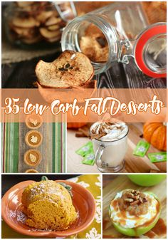 Trying to avoid the holiday weight gain? Try one of these 35 Low Carb Fall Desserts!