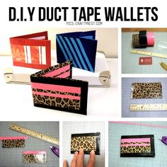 DIY Duct Tape Wallets