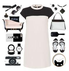 """black & white organized"" by tinkertot ❤ liked on Polyvore featuring Dot & Bo, Paule Ka, Dune, MAC Cosmetics, CÉLINE, GHD, Park B. Smith, Bobbi Brown Cosmetics, LØMO and NOVICA"