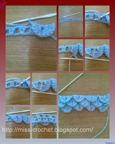 Ms.crochet: Crochet Stitch  crocodile stitch