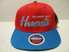 NCAA Delaware State Hornets Orange Royal 2 Tone Snapback Cap