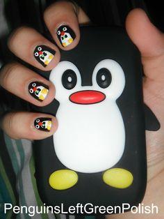 Penguins Left Green Polish: Penguin Obsession!