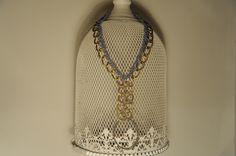 collana ICE - cod. 01 - catena e filato au crochet necklace ICE - au crochet http://www.lacortevenezia.it/