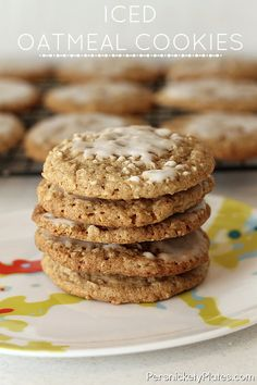 Iced Oatmeal Cookies- these are so soft and chewy. You don't even need the frosting!