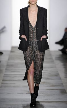 Stretch Crepe Blazer by Wes Gordon Runway Fashion, High Fashion, Fashion Show, Fashion Design, Wes Gordon, Tailored Coat, Black Is Beautiful, Winter Collection, Catwalk