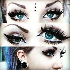 punk/ gothic makeup - Google Search