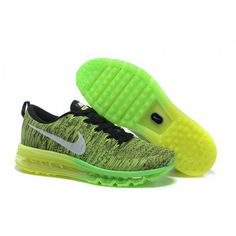 ec694e07f15f1 Mens Nike Flyknit Max Premium Shoes Fluorescent Black Running Shoes Nike