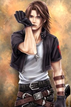 Squall Leonhart. Fan art. Final Fantasy VIII.