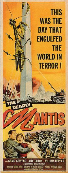 Deadly Mantis (1957) | terror monsters exploitation 50s film poster