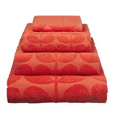 Orla Kiely | USA | house | Bath | Sculpted Stem Bath Sheet (0TOWSCS900) | tomato