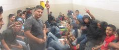 Feds are having trouble keeping track of unaccompanied teenage immigrants. This photo, taken this month, shows a Border Patrol holding cell filled with migrant unaccompanied minors in Texas. (Photo: Center for Immigration Studies)