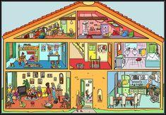 Nederlands in groep 1/2: praatplaat | #praatplaat #huis #house #children #kinderen
