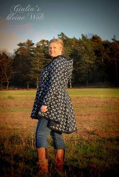 Nähanleitungen Mode: Langen Mantel für den Herbst nähen / sewing pattern and instruction for a trench coat, fashion diy made by TanteAdel via DaWanda.com