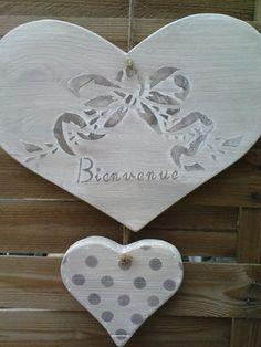 coeur double Bienvenue - Photo de créas en bois - comptoir du bonheur