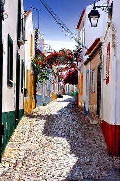 Small fishing village Ferragudo, Portimao, Portugal