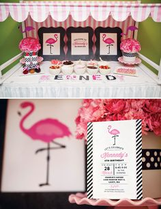 {Ice Cream Parlor} Pink Flamingo Party