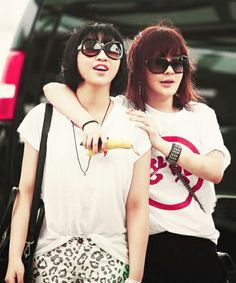 2ne1 cute couple park bom and minzy