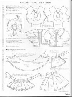 Sewing Doll Clothes, Baby Doll Clothes, Sewing Dolls, Barbie Clothes, Diy Clothes, Doll Dress Patterns, Doll Sewing Patterns, Barbie Patterns, Clothing Patterns