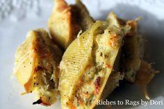 *Riches to Rags* by Dori: Parmesan Chicken Pesto Stuffed Shells