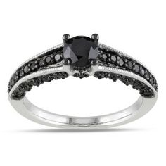 black engament rings
