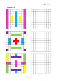 This worksheet and much more in the category of spatial orientation - post-coloring . Fun Worksheets, Kindergarten Worksheets, Math Resources, Preschool Activities, Handwriting Games, Visual Perceptual Activities, Graph Paper Drawings, Math Patterns, Math For Kids