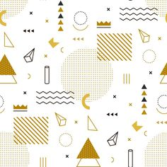 Find Geometric Gold Pattern Fashion Wallpaper Memphis stock images in HD and millions of other royalty-free stock photos, illustrations and vectors in the Shutterstock collection. Web Design, Design Art, Gold Pattern, Pattern Design, Conception Memphis, Hipster Illustration, Memphis Pattern, Memphis Design, Fashion Wallpaper