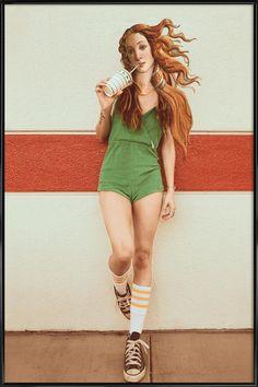 Venus Chillout als Poster im Kunststoffrahmen | JUNIQE