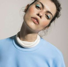 Blue eyeshadow editorial