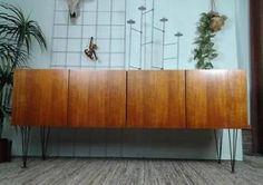 Vintage dressoir 1.70 m design lowboard retro tv-meubel kast