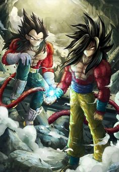 Super Saiyan 4 Goku and Vegeta, who is hotter, hmmm?( vegeta: left Goku: Right) Dragon Ball Gt, Dragon 2, Blue Dragon, Super Saiyan 4 Goku, Fanart Manga, Manga Anime, Bd Comics, Anime Comics, Fanarts Anime