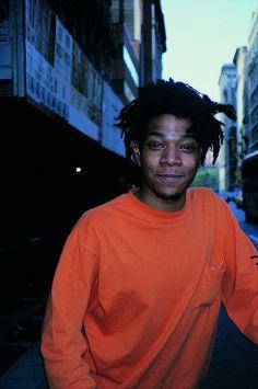 Basquiat by Ricky Powell Jean Michel Basquiat Art, Jm Basquiat, Robert Rauschenberg, Andy Warhol, Keith Haring, Basquiat Paintings, Radiant Child, Pop Art, Master Studies