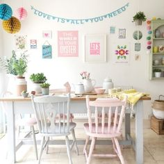 This Kitchen was shared by {Allison Sadler}. Find more Kitchen ideas and inspiration at{mine} Decor, Interior Design Living Room, Pastel Interior, Pastel Home Decor, Interior, Pastel House, Home Decor, Pastel Chair, Home Deco