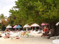 a resort down the beach from us....loved the colorful umbrellas